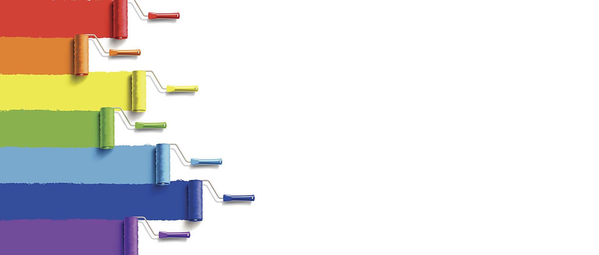 mark rogers decorating rainbow roller brush