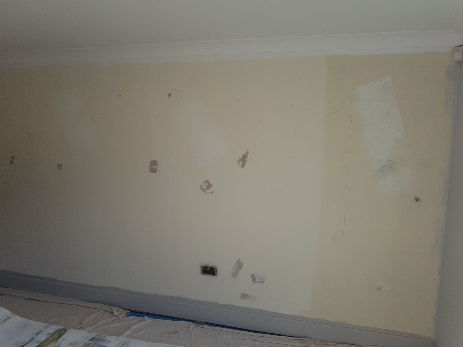 mark rogers interior wallpapering - before